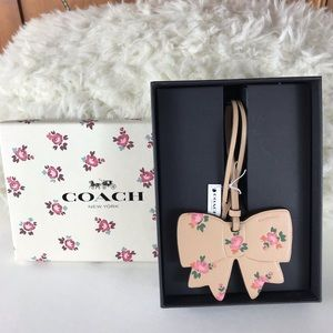 Coach Floral Bag or Gift Tag  New in Box